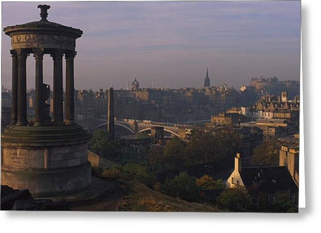 Town Clock Tower Greeting Cards - High Angle View Of A Monument Greeting Card by Panoramic Images