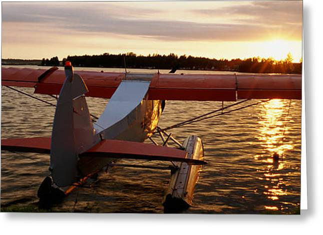 The Higher Planes Greeting Cards - High Angle View Of A Sea Plane, Lake Greeting Card by Panoramic Images