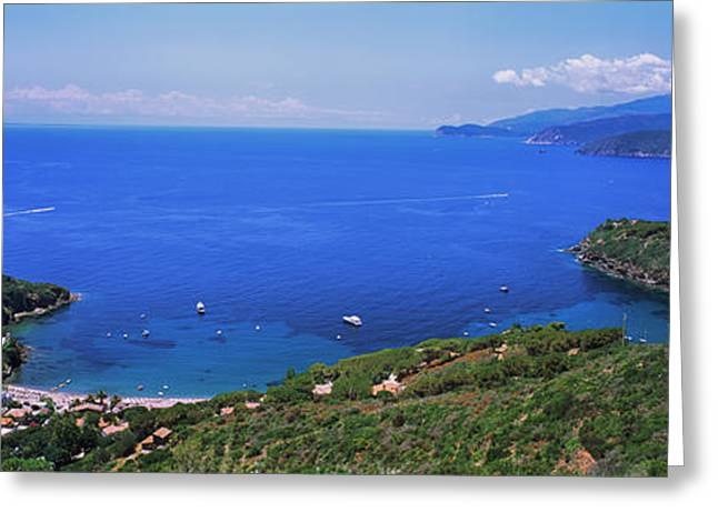 High Angle View Of Sea, Golfo Stella Greeting Card by Panoramic Images