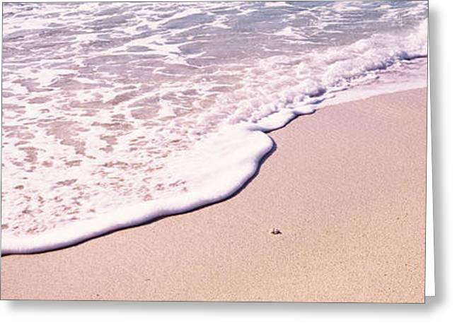 Virgin Gorda Greeting Cards - High Angle View Of Surf On The Beach Greeting Card by Panoramic Images