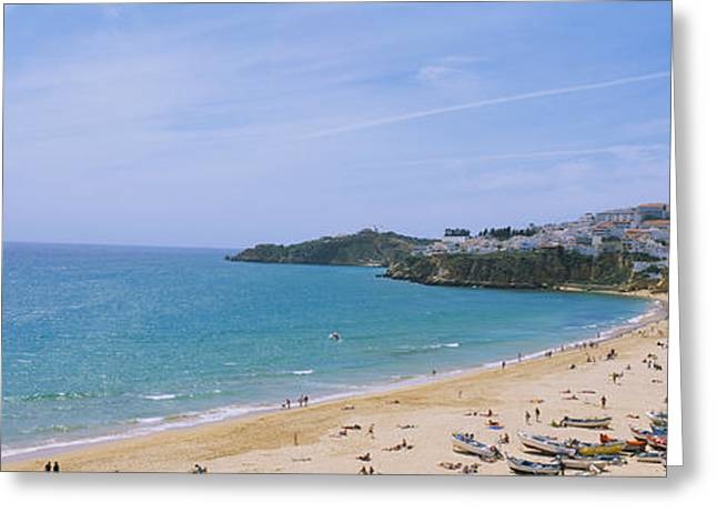 Faro Greeting Cards - High Angle View Of The Beach Greeting Card by Panoramic Images