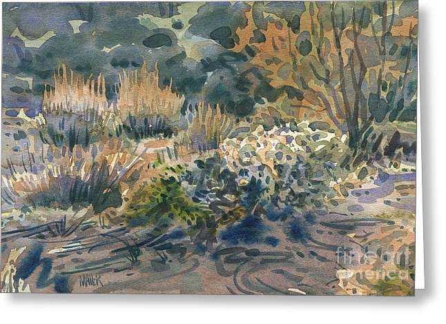 Sagebrush Greeting Cards - High Desert Flora Greeting Card by Donald Maier
