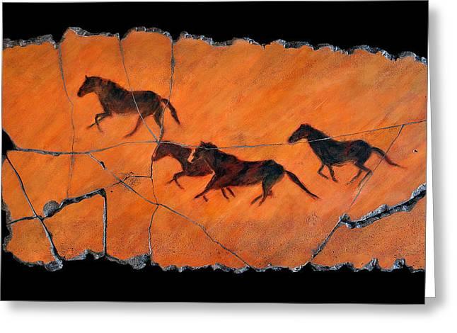 Horse Greeting Cards - High Desert Horses Greeting Card by Steve Bogdanoff