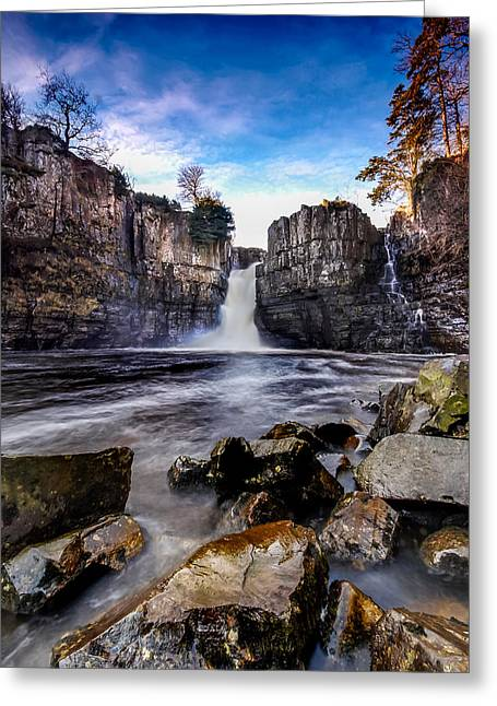 Recently Sold -  - Water Flowing Greeting Cards - High Force Co Durham Greeting Card by Dave Hudspeth