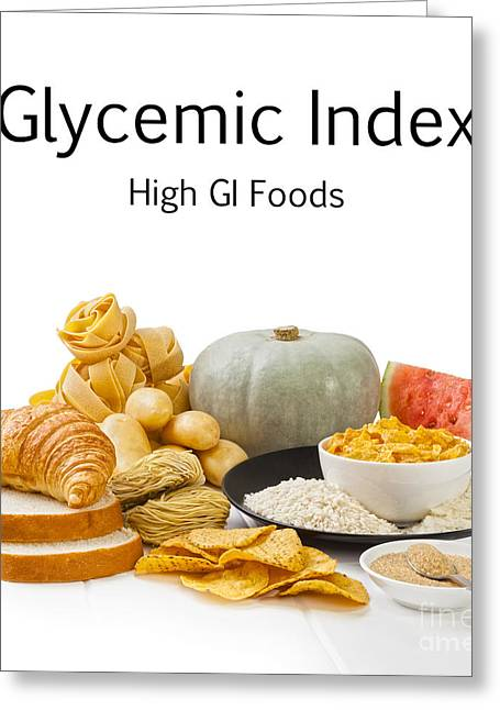 Noodles Greeting Cards - High Glycaemic Index Foods Greeting Card by Colin and Linda McKie