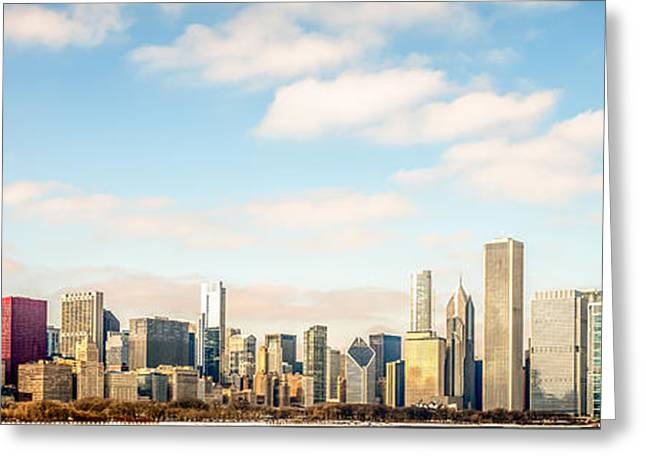 Popular Art Greeting Cards - High Resolution Large Photo of Chicago Skyline Greeting Card by Paul Velgos