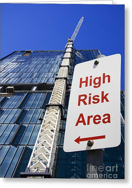 Straps Greeting Cards - High Risk Building Site Greeting Card by Ryan Jorgensen