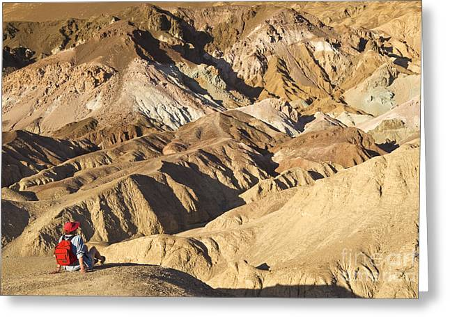 Hematite Greeting Cards - Hiker, Death Valley, Ca Greeting Card by Richard and Ellen Thane
