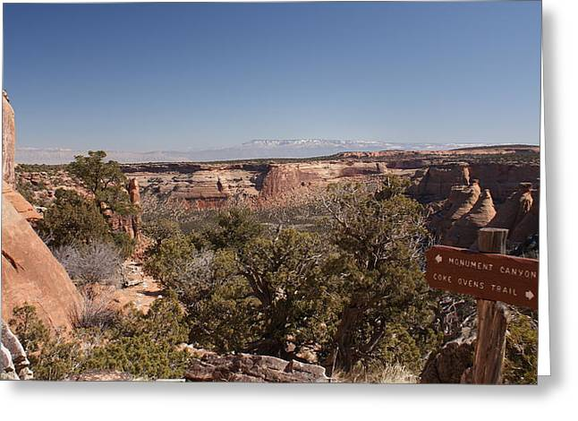 Hiking National Monument  Greeting Card by Michael J Bauer