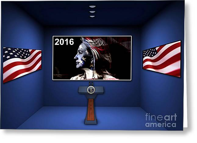 Clinton Greeting Cards - Hillary 2016 Greeting Card by Marvin Blaine