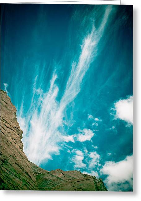 Landscape Framed Prints Greeting Cards - Himalyas mountains in Tibet with clouds Greeting Card by Raimond Klavins