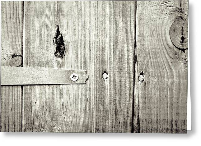 Sheds Greeting Cards - Hinge Greeting Card by Tom Gowanlock