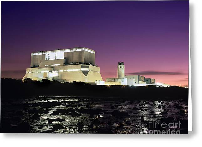 Hinkley Point Nuclear Power Station Greeting Card by Martin Bond