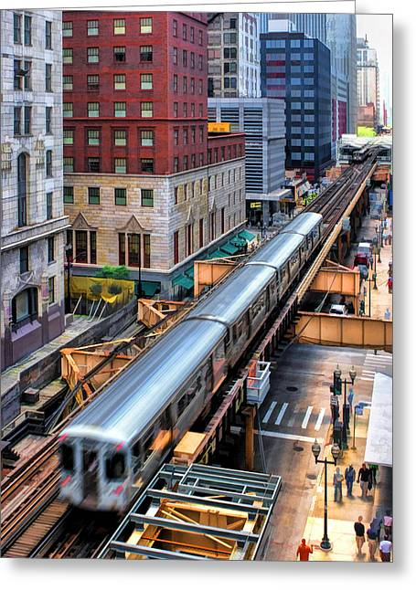 Blur Paintings Greeting Cards - Historic Chicago El Train Greeting Card by Christopher Arndt