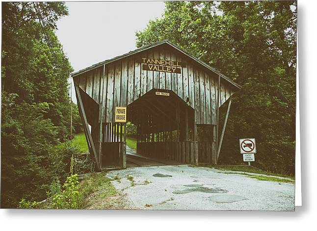 Covered Bridge Greeting Cards - Historic Covered Bridge in Alabama Greeting Card by Mountain Dreams