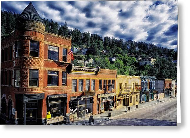 Deadwood Greeting Cards - Historic Deadwood Greeting Card by Mountain Dreams