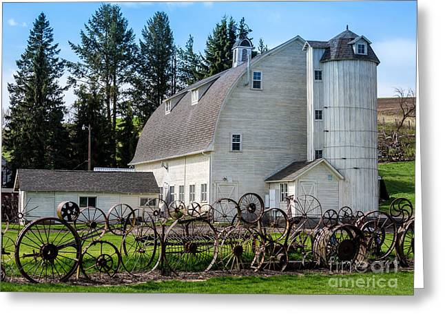 Dairy Barn Greeting Cards - Historic Uniontown Washington Dairy Barn - 2 Greeting Card by Gary Whitton