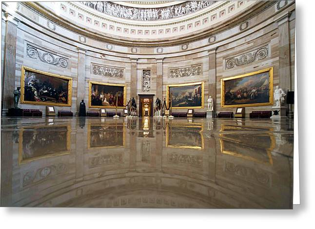 U.s. Capitol Greeting Cards - History Greeting Card by Mitch Cat