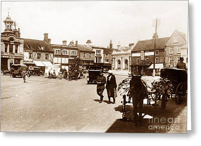 Hitchin Greeting Cards - Hitchin England Greeting Card by The Keasbury-Gordon Photograph Archive