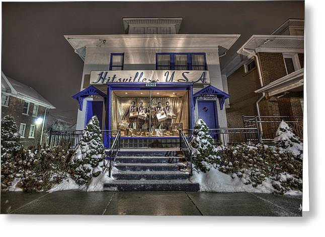 Hitsville Usa Greeting Card by Nicholas  Grunas