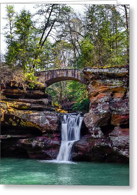 Babbling Greeting Cards - Hocking Hills State Park Greeting Card by Brian Stevens