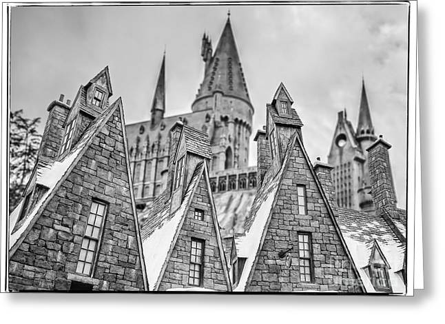 Postcard From Hogsmeade Greeting Card by Edward Fielding