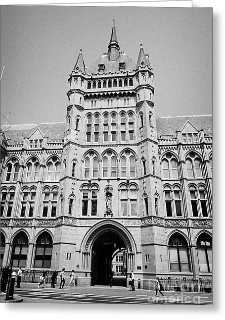 Assurance Greeting Cards - holborn bars former headquarters of the prudential assurance London England UK Greeting Card by Joe Fox