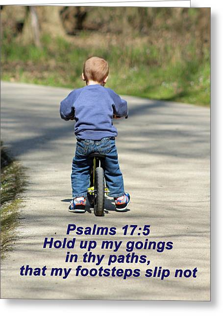 Toddlers Poster Greeting Cards - Hold Me Up Lord Greeting Card by Lorna Rogers Photography