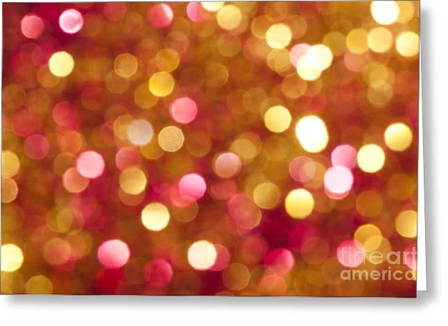 Illuminate Greeting Cards - Holiday shiny yellow and red colors Greeting Card by Deyan Georgiev