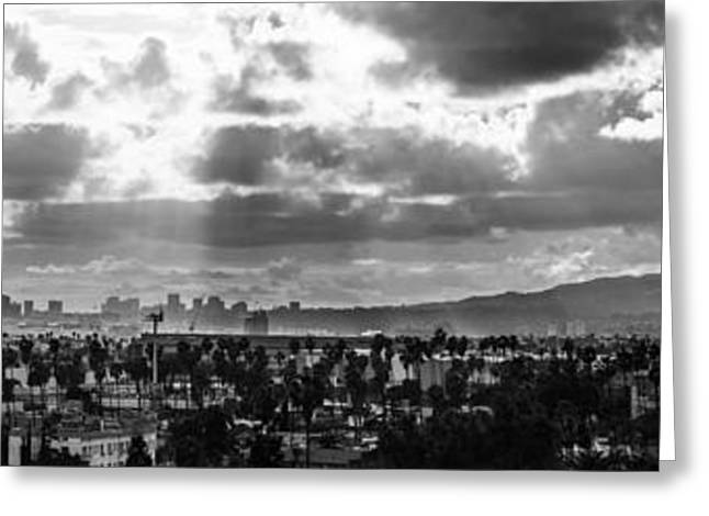 ist Photographs Greeting Cards - Hollywood and Westside  Greeting Card by Art K