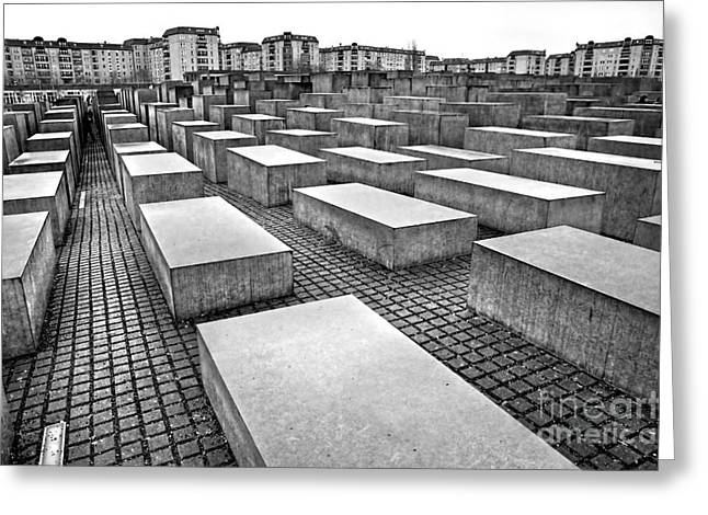 Abstract Geometric Greeting Cards - Holocaust memorial - Berlin Greeting Card by Luciano Mortula