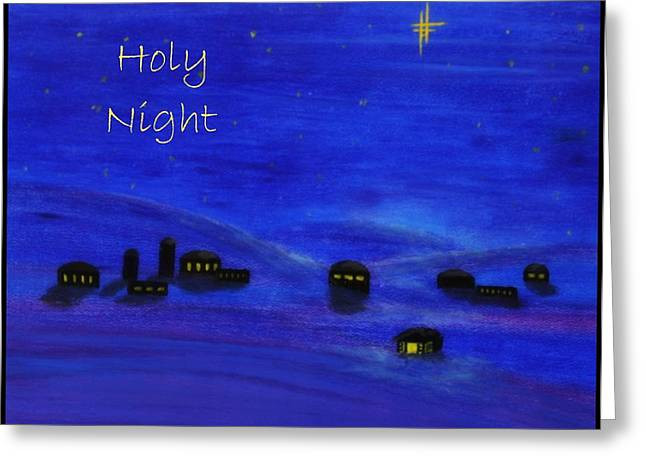 Star Of Bethlehem Greeting Cards - Holy Night Greeting Card by Linda Eversole