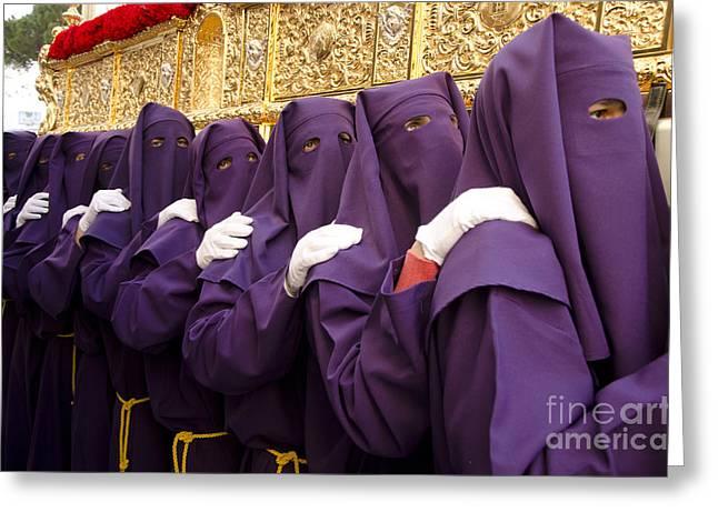 Holy Week Greeting Cards - Holy week in Spain Greeting Card by Perry Van Munster