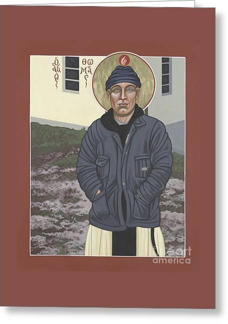 Holy World Evangelist Thomas Merton 267 Greeting Card by William Hart McNichols