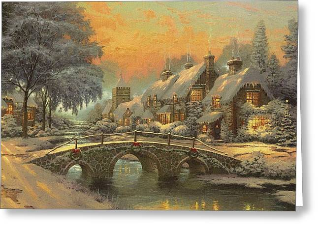 New Year Greeting Cards - Home Christmas Greeting Card by Victor Gladkiy