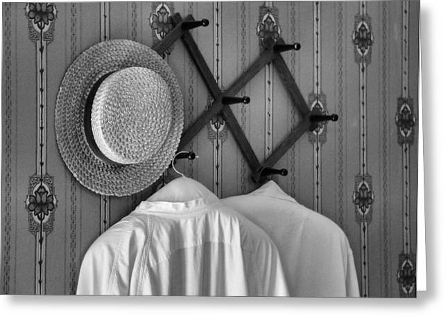 Coat Hanger Greeting Cards - Home Greeting Card by Dan Sproul