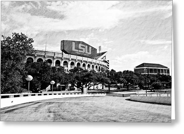 Lsu Greeting Cards - Home Field Advantage Greeting Card by Scott Pellegrin