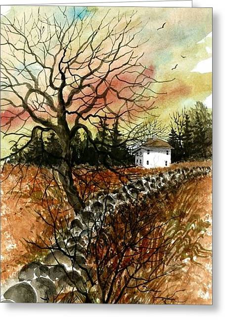 Award Winning Art Greeting Cards - Home In The Distance Greeting Card by Steven Schultz