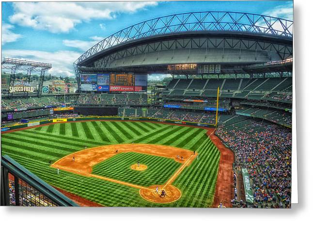 Seattle Mariners Greeting Cards - Home of the Mariners - Safeco Field Greeting Card by Pixabay