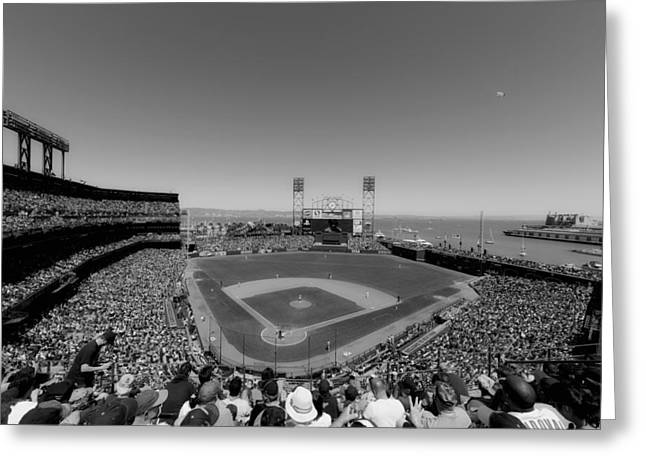 Cubs Baseball Park Greeting Cards - Home of the San Francisco Giants Greeting Card by Mountain Dreams