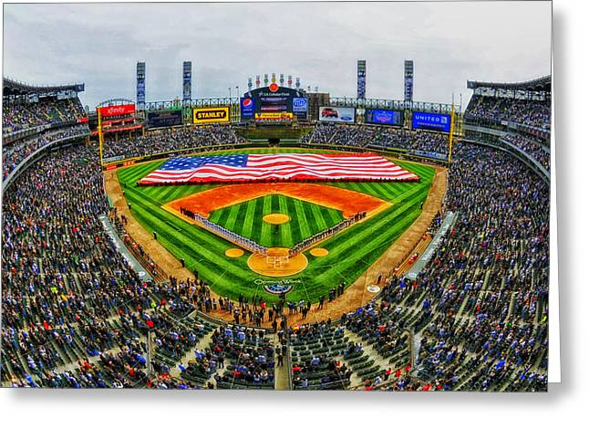 Opening Day Greeting Cards - Home of the White Sox - US Cellular Field Greeting Card by Mountain Dreams