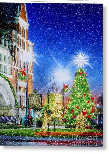Small Towns Greeting Cards - Home Town Christmas Greeting Card by Darren Fisher