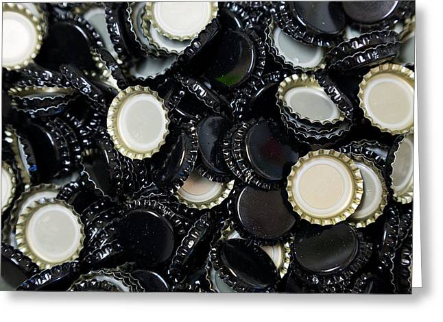 Homebrew Bottlecaps Greeting Card by Joshua Rainey