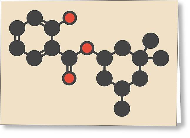 Homosalate Sunscreen Molecule Greeting Card by Molekuul