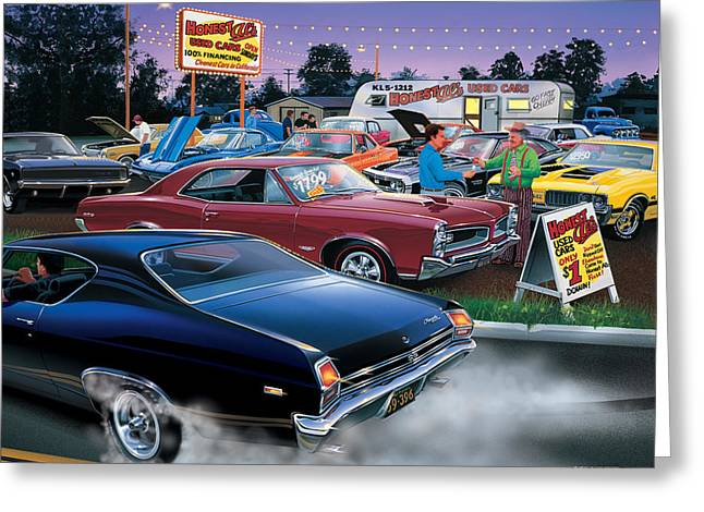 Driving Greeting Cards - Honest Als Used Cars Greeting Card by Bruce Kaiser