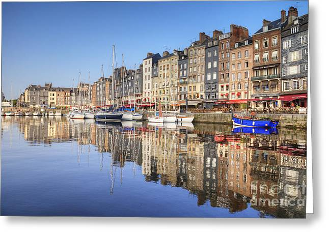 Editorial Greeting Cards - Honfleur Normandy France Greeting Card by Colin and Linda McKie