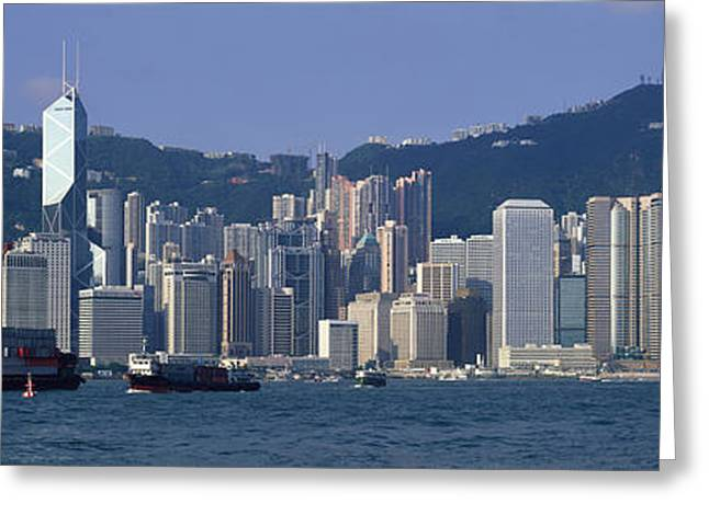Commercial Photography Greeting Cards - Hong Kong China Greeting Card by Panoramic Images