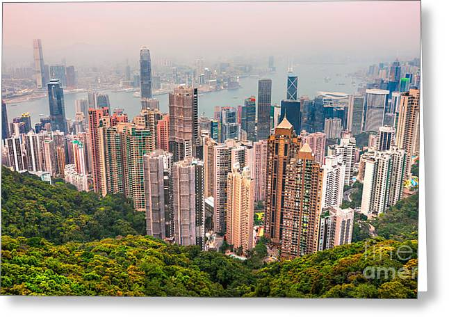Kowloon Greeting Cards - Hong Kong. Greeting Card by Luciano Mortula