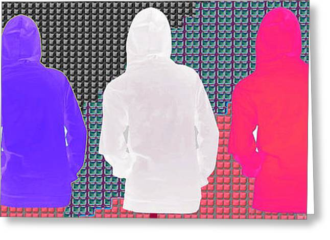 Wife Greeting Cards - Hoodie gang graffiti fashion Background Designs  and Color Tones n Color Shades available for DownLo Greeting Card by Navin Joshi