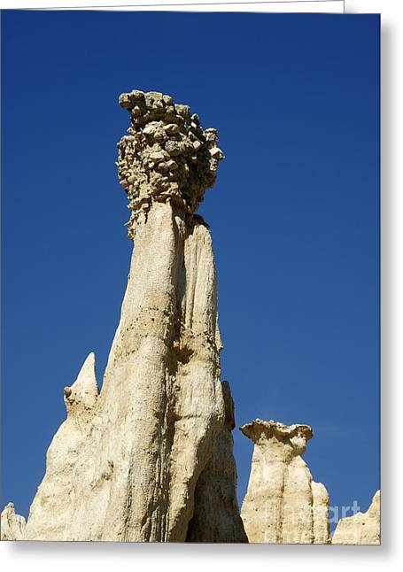 Blue Mudstone Greeting Cards - Hoodoo Rock Formation Greeting Card by Chris Hellier